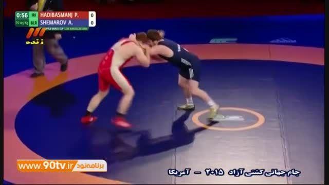 جام جهانی کشتی آزاد -پیروزی هادی مقابل بلاروس/ ۱۲۵ کیلو