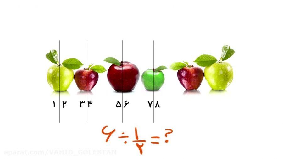 """آموزش """"تقسیم کسرها"""" ریاضی پنجم ابتدایی"""