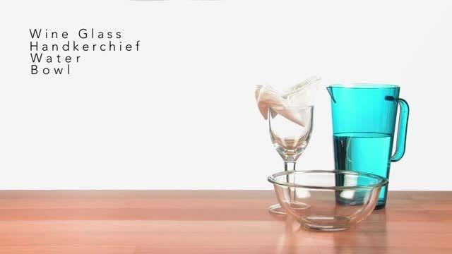 آزمایش برعکس کردن لیوان اب،بدون ریختن آب
