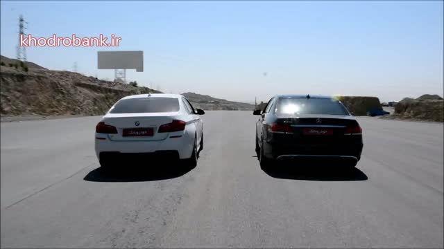 درگ بین بی ام و 528 و مرسدس بنز E250 در تهران