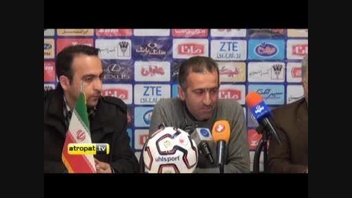 کنفرانس مطبوعاتی بعد از بازی گسترش فولاد- فولاد خوزستان
