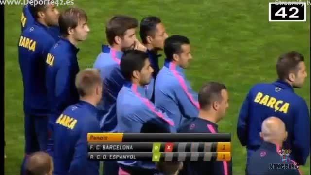 تمام گل های بازی بارسلونا و اسپانیول در سوپرجام