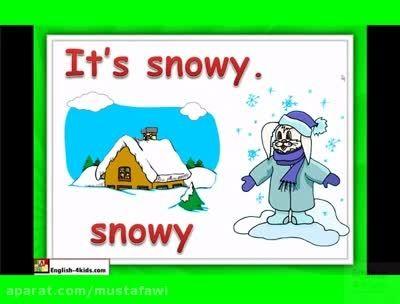 آموزش زبان انگلیسی به کودکان (آب و هوا) 1