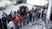 سرود دسته جمعی دانش آموزان ساری مرگ بر آمریکا حامد زمانی