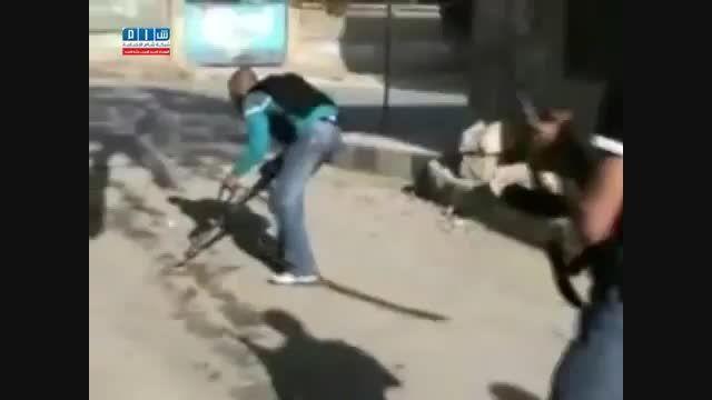 شکار تروریست النصره توسط تک تیرانداز ارتش سوریه