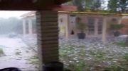 بارش عجیب تگرگ