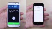 تست سرعت گوشی های galaxy s5 vs apple iphone 5s