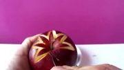 آموزش کنده کاری سیب به شکل  جعبه انگشتر!!