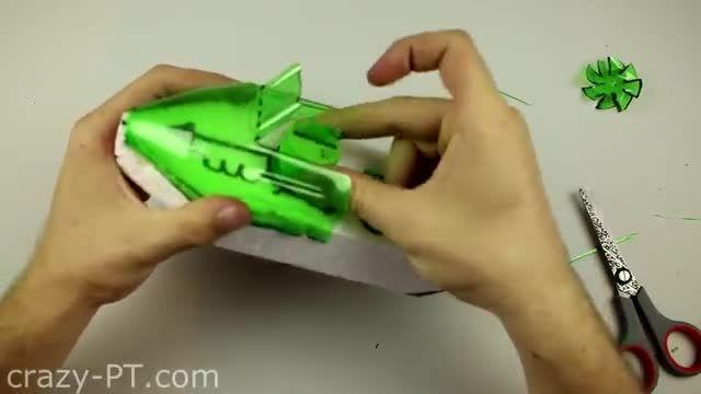 ساخت قایق موتوری ساده و جالب(ویدئو ساخت)