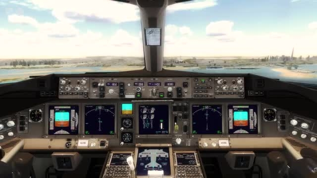 فرود بوئینگ 777 در فرودگاه دبی شبیه ساز الماس