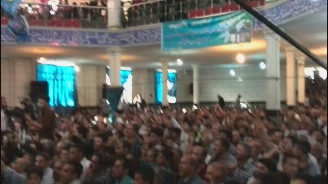 استقبال مردم همدان از دکتر احمدی نژاد در جشن نیمه شعبان