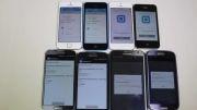 مقایسه 8 گوشی, 4 مدل از آیفون و 4 مدل از سامسونگ.
