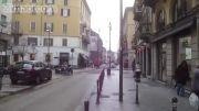 پیاده روی و فیلمبرداری در خیابان های میلان ایتالیا خیلی جالب