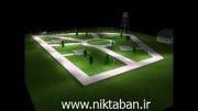 نورپردازی و طراحی روشنایی پارک چراغ خیابانی خورشیدی LED