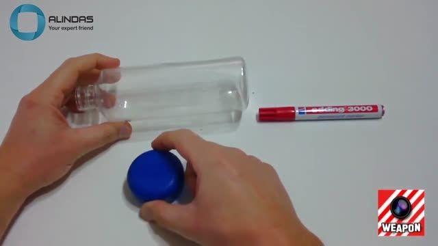 ساخت ماشین متحرک اسباب بازی با بطری و ساده ترین وسایل