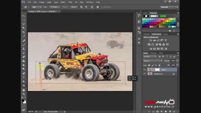 آموزش فتوشاپ :طراحی عکس های ۳بعدی بیرون زده از قاب عکس