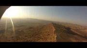 پرواز پاراگلایدر بر روی دیواره سایت شهید صفابخش (شهر گتوند)