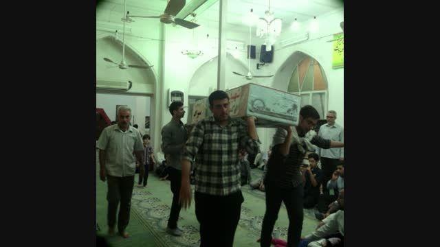 مراسم وداع با شهید گمنام در مسجد حاج محمد علی