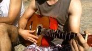 گیتار آهنگ زیبای آزاد با اجرای مسعود و محمدرضا