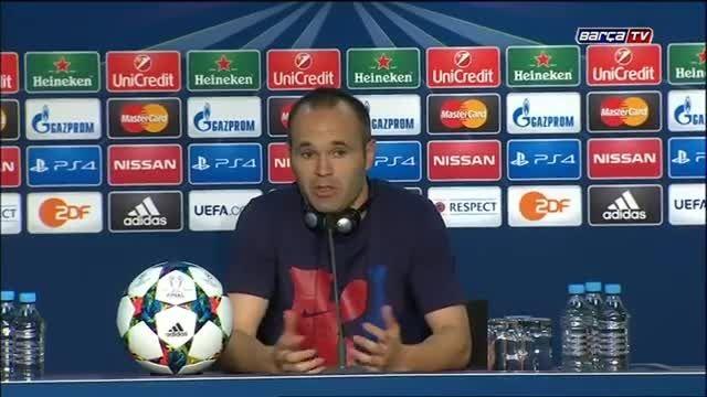 مصاحبه بازیکنان بارسلونا پس از قهرمانی در چمپیونزلیگ
