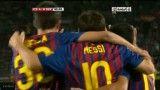 گل اول مسی به ناپولی و گل چهارم بارسلونا