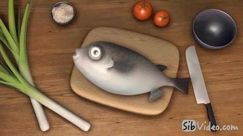 انیمیشن سرخ کردن ماهی