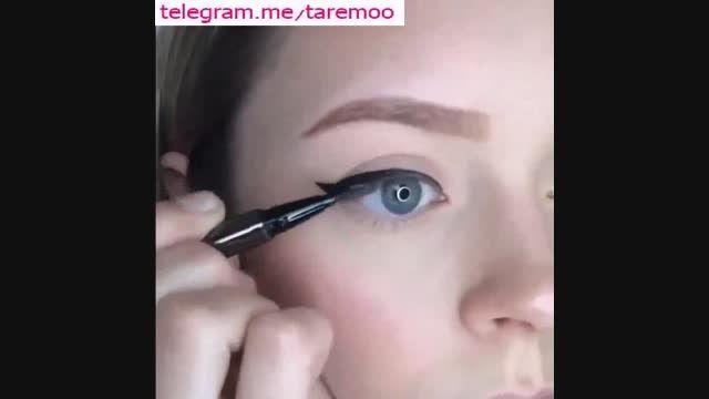 آموزش گام به گام کشیدن خط چشم گربه ای در تارمو