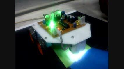 پروژه ساخت ربات تشخیص و تعقیب کننده رنگ