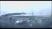 لحظه سقوط هواپیمایی روسیه