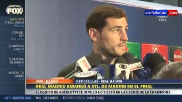 مصاحبه ایکر کاسیاس بعد از بازی رئال مادرید و اتلتیکو