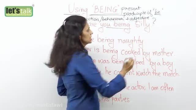 آموزش گرامر زبان انگلیسی (استفاده از being)