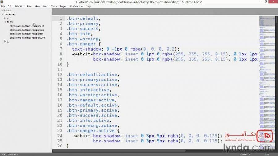 آموزش بوت استرپ 3 : بررسی ساختار فایل بوت استرپ