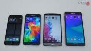 Galaxy Note 4 vs iPhone 6 . LG G3 . Galaxy S5_Benchmark