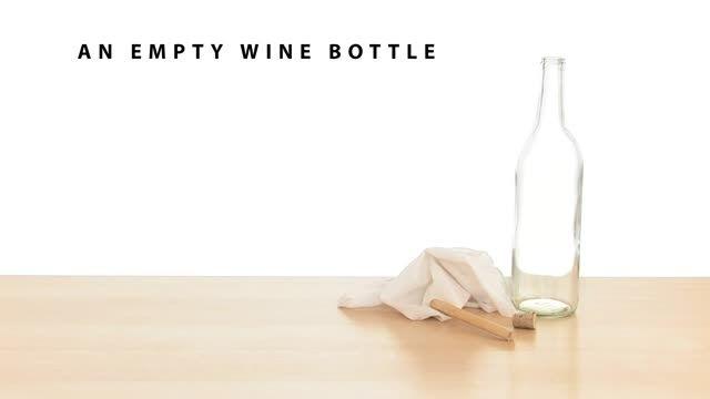 در اوردن سر بطری،از درون بطری