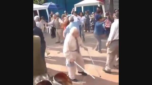 رقص پیر مرد-خنده دار
