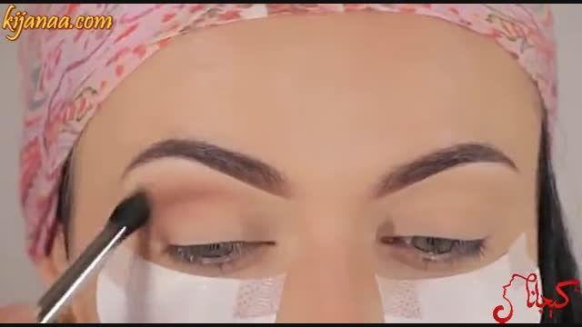 نمونه مدل آموزشی میکاپ و آرایش چشم در کیجانا دات کام