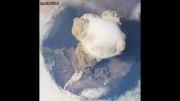 منظره فوران آتشفشان از فضا