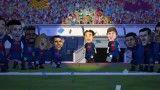 کارتون بارسلونا - توپ طلای لیونل مسی
