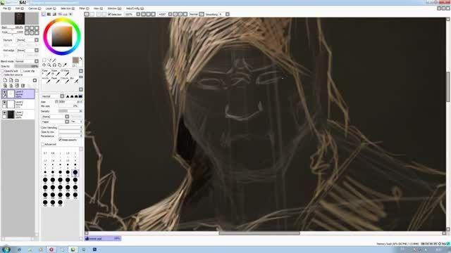 آموزش نقاشی دیجیتال بوسیله ی فتوشاپ و قلم نوری