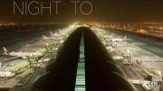 فرودگاه دبی را در طول یک شبانه روز در دریک دقیقه ببینید