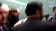 EXO arriving at Heathrow 150102 - Kai and Xiumin focus