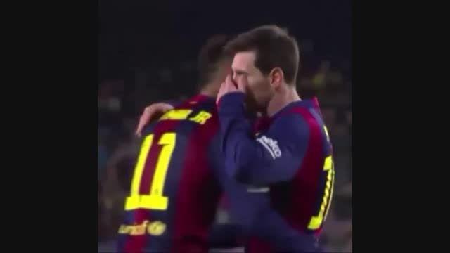 وقتی مسی به نیمار میگه برو پنالتی بزن تا آقای گل بشی
