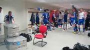 خوشحالی بازیکنان جزایر فارو در رختکن پس برتری بر یونان