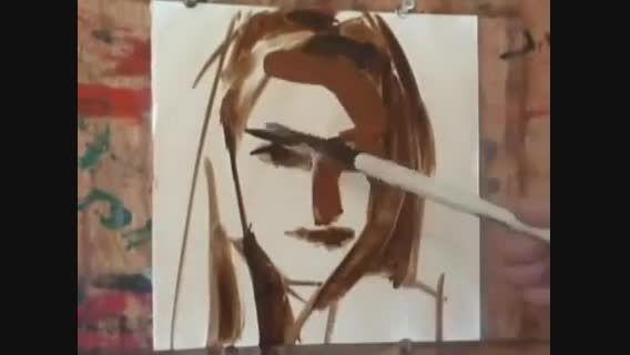 کشیدن نقاشی فوق العاده با چند خط ساده