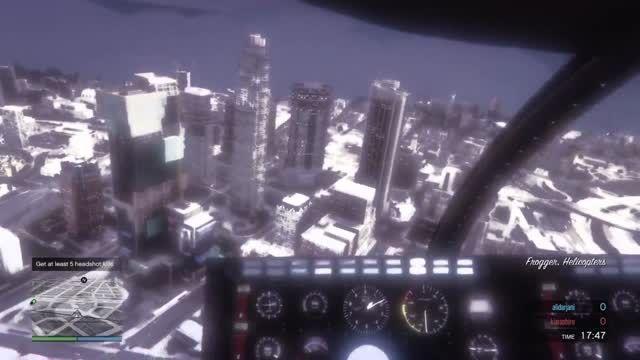عجیب ترین ددمچ GTA ONLINE برف امدن و افت گرافیکی