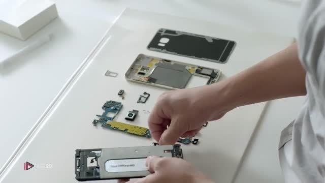 سرهم بندی قطعات و جعبه گشایی گوشی Samsung Galaxy S6 Edg
