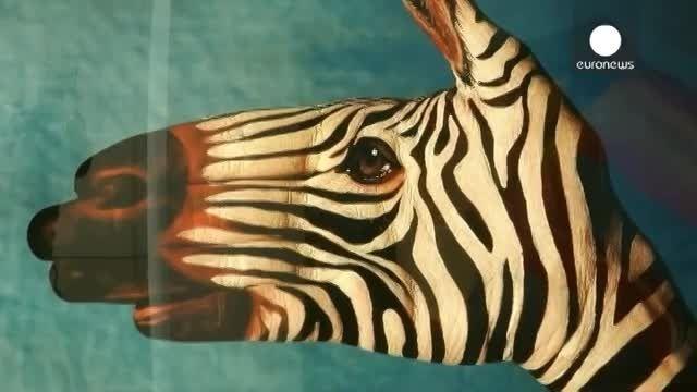 هنر نقاشی روی دست در خدمت حفاظت از حیات وحش