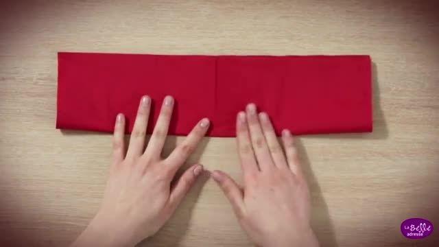 آموزش تاکردن دستمال سفره شیک ومجلسی!