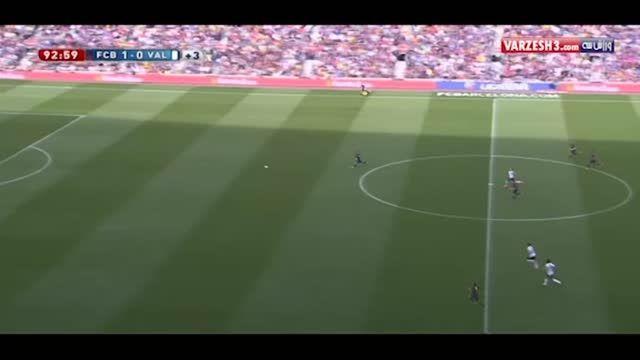 گل لئو مسی بازی بارسلونا و والنسیا