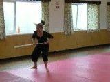 حرکات چوب با اجرای حرکات پا توسط خانم زیبا